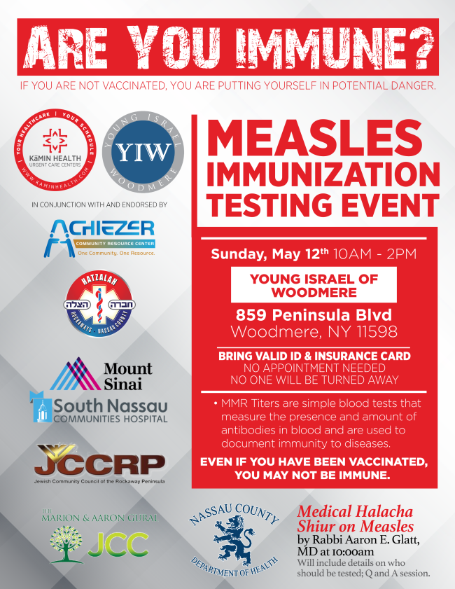 Measles Educational and Titer Testing Event at the Young Israel of Woodmere